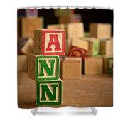 Ann - Alphabet Blocks Shower Curtain