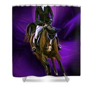 Ann Knight Karrasch On Horse Coral Reef Aajee Shower Curtain