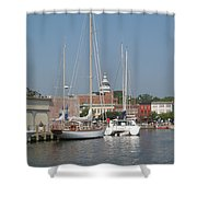 Annapolis Harbor Alongside Dock Street Shower Curtain