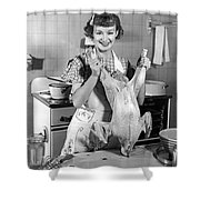 Anne Shirley And Her Turkey Shower Curtain by Underwood Archives