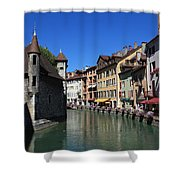 Annecy And Le Thiou Shower Curtain