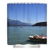 Annecy Lake Shower Curtain