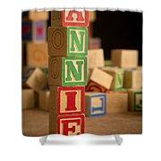 Annie - Alphabet Blocks Shower Curtain