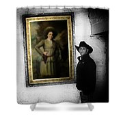 Annie Oakley With A Cowboy Shower Curtain