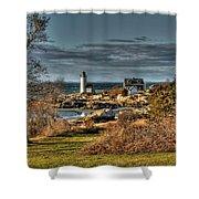 Annisquam Lighthouse Late Autumn Shower Curtain