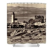 Annisquam Lighthouse Vintage Shower Curtain