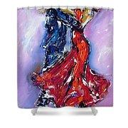 Anniversary Dance Painting  Shower Curtain