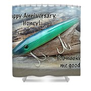 Anniversary Greeting Card - Saltwater Lure Shower Curtain