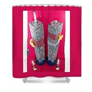 Twin Towers Memorial Sculptures Shower Curtain
