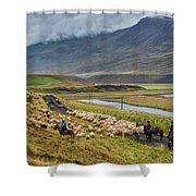 Annual Autumn Sheep Roundup Shower Curtain