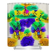 Another Blueprint In Abstract Shower Curtain