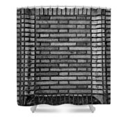 Another Brick In The Wall In Black And White Shower Curtain