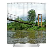 Another Bridge Over River Kwai In Kanchanaburi-thailand Shower Curtain