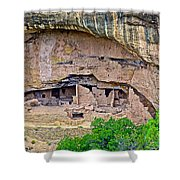 Another Dwelling On Chapin Mesa In Mesa Verde National Park-colorado  Shower Curtain