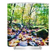 Another Enchanted Forest Shower Curtain