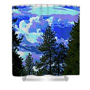 Another Fine Day On Planet Earth Shower Curtain
