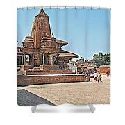 Another Hindu Temple N Bhaktapur Durbar Square In Bhaktapur -nepal Shower Curtain