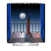 Another Night Alone Shower Curtain