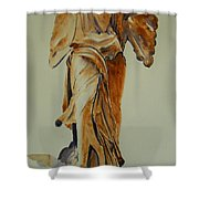 Another Perspective Of The Winged Lady Of Samothrace  Shower Curtain