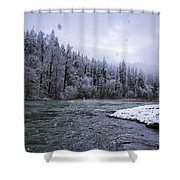 Another Snowy Day Shower Curtain