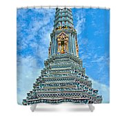 Another Stupa At Grand Palace Of Thailand In Bangkok Shower Curtain