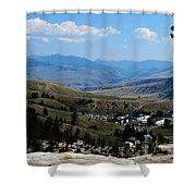 Another View From Mammoth In Yellowstone Shower Curtain