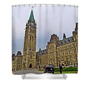Another View Of Parliament Building In Ottawa-on Shower Curtain