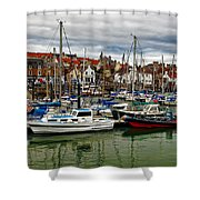 Anstruther Harbour Shower Curtain