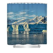Antarctic Iceberg Shower Curtain