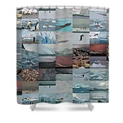 Antarctic Mosaic Shower Curtain