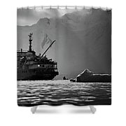 Antarctican Expedition 2013.  Ship Name Shower Curtain