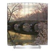 Anteitam Burnside Bridge In Spring Snow Shower Curtain