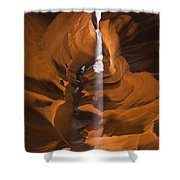 Antelope Canyon A Narrow Canyon Carved Shower Curtain by Brian Guzzetti
