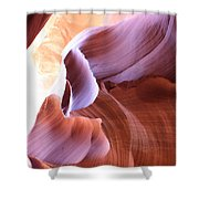 Antelope Canyon Colorful Waves Shower Curtain