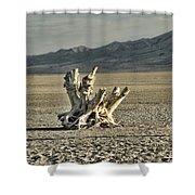 Antelope Island Stump Shower Curtain