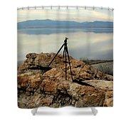 Antelope Island Sunset - 3 Shower Curtain