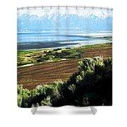 Antelope Island Wasatch Mountains Utah Shower Curtain