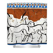 Antelope Of Akrotiri - Study No. 2 Shower Curtain