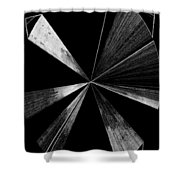 Antenna- Black And White  Shower Curtain