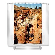 Anthony Howarth Collection - Gold- Re-working Old Mines - S.a. Shower Curtain