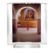 Anthony Howarth Collection - Gold - Saffron And Gold - Burma Shower Curtain