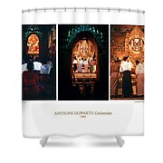 Anthony Howarth Collection - Gold - Simply Buddha? Mandalay Shower Curtain