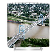 Anthony Wayne Bridge Toledo Ohio Shower Curtain