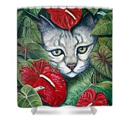 Anthurium Assassins Shower Curtain