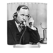 Anti Noise Telephone Shower Curtain