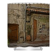 Antibes France Scene Paintings Dsc02278  Shower Curtain