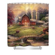 Anticipation Of The Day Ahead Shower Curtain by Chuck Pinson