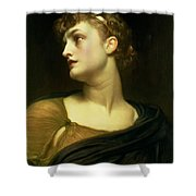 Antigone Shower Curtain by Frederic Leighton