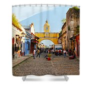 Antigua Guatemala Clock Shower Curtain