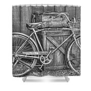 Antiquated Bike Shower Curtain